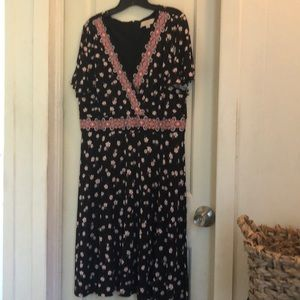 Black Flowered Loft dress